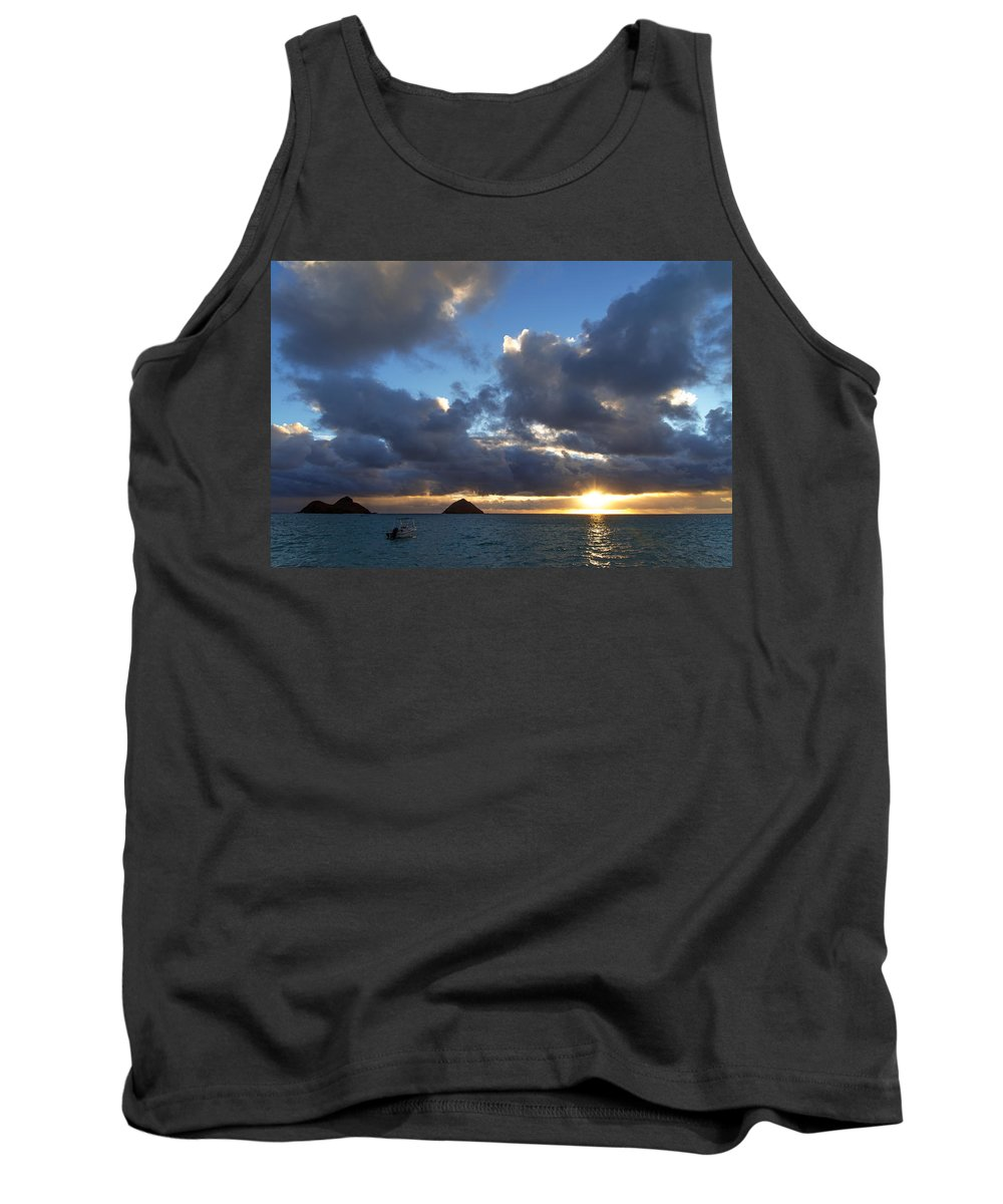 Hawaii Tank Top featuring the photograph Hawaii Sunrise by Dustin LeFevre