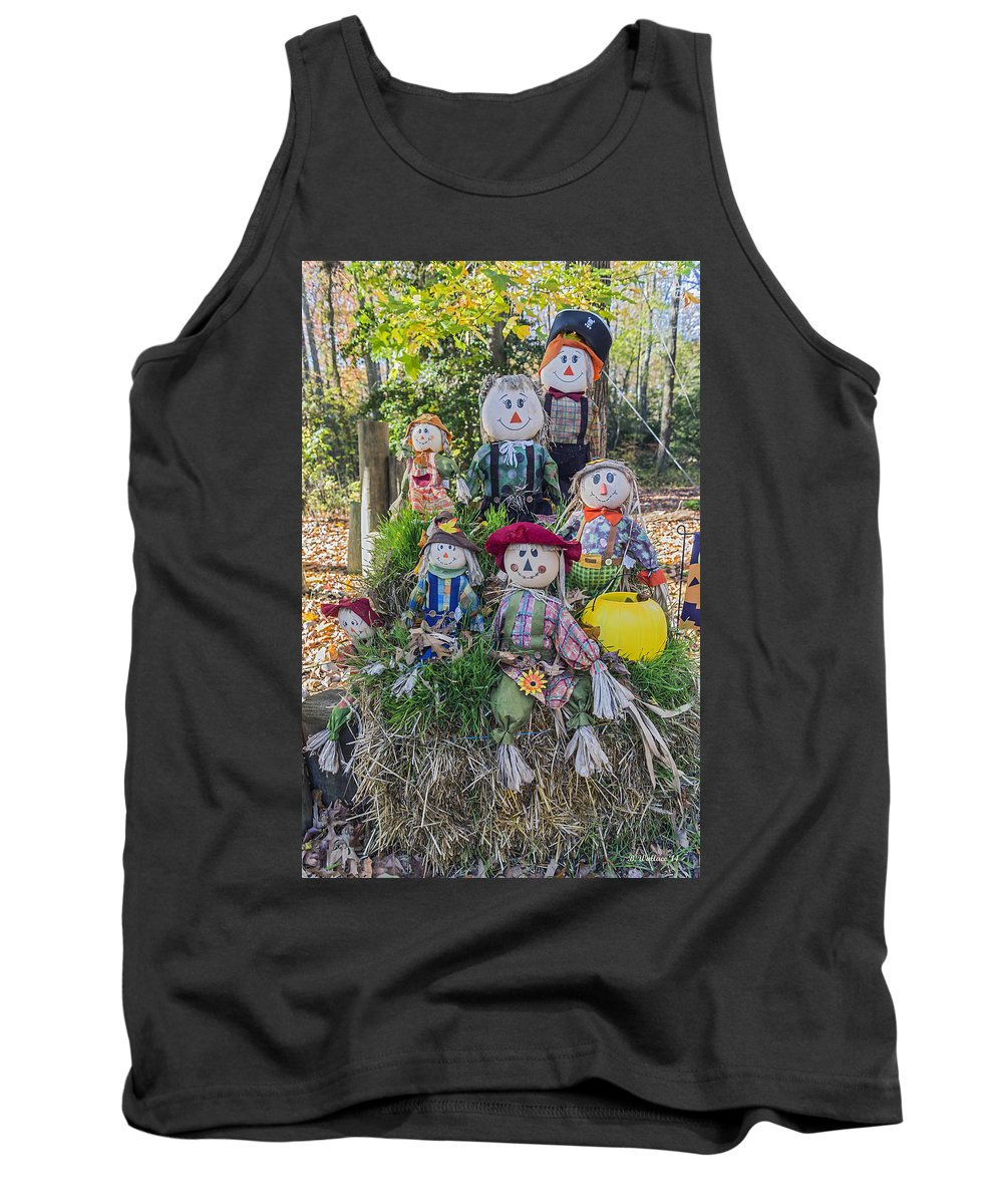 2d Tank Top featuring the photograph Hay There by Brian Wallace