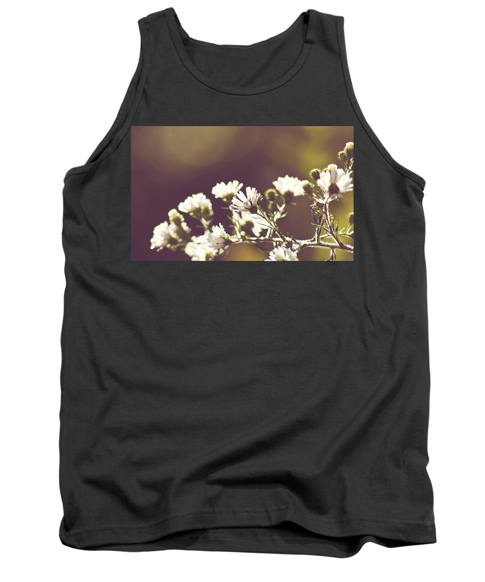 Flower Tank Top featuring the photograph Hazy Days by Melissa Petrey