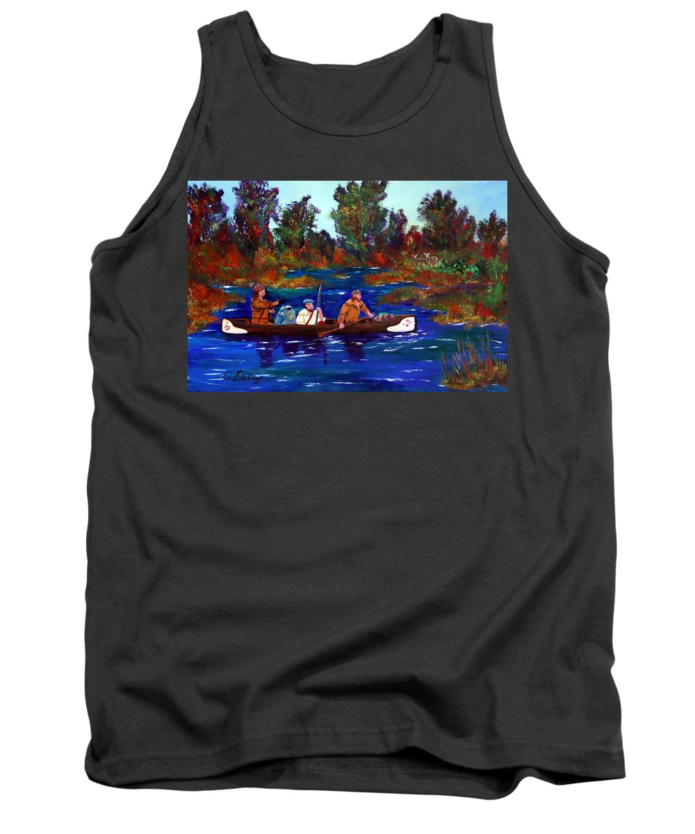 Mountain Men Tank Top featuring the painting Heading For Rendezvous by Gail Daley