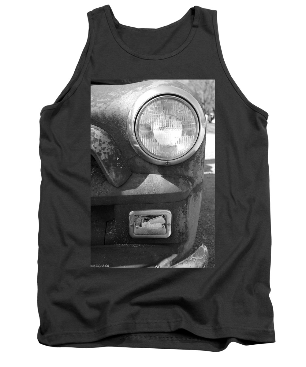 Headlight Tank Top featuring the photograph Headlight Of The Past by Nick Kirby