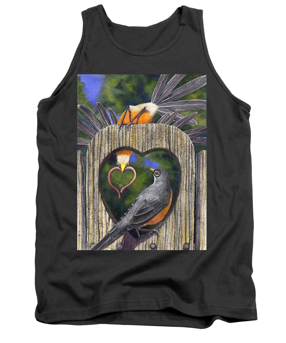 Robin Tank Top featuring the painting Heartfelt by Catherine G McElroy