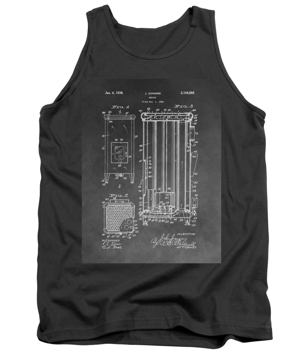 Vintage Heater Patent Tank Top featuring the drawing Heater Patent by Dan Sproul