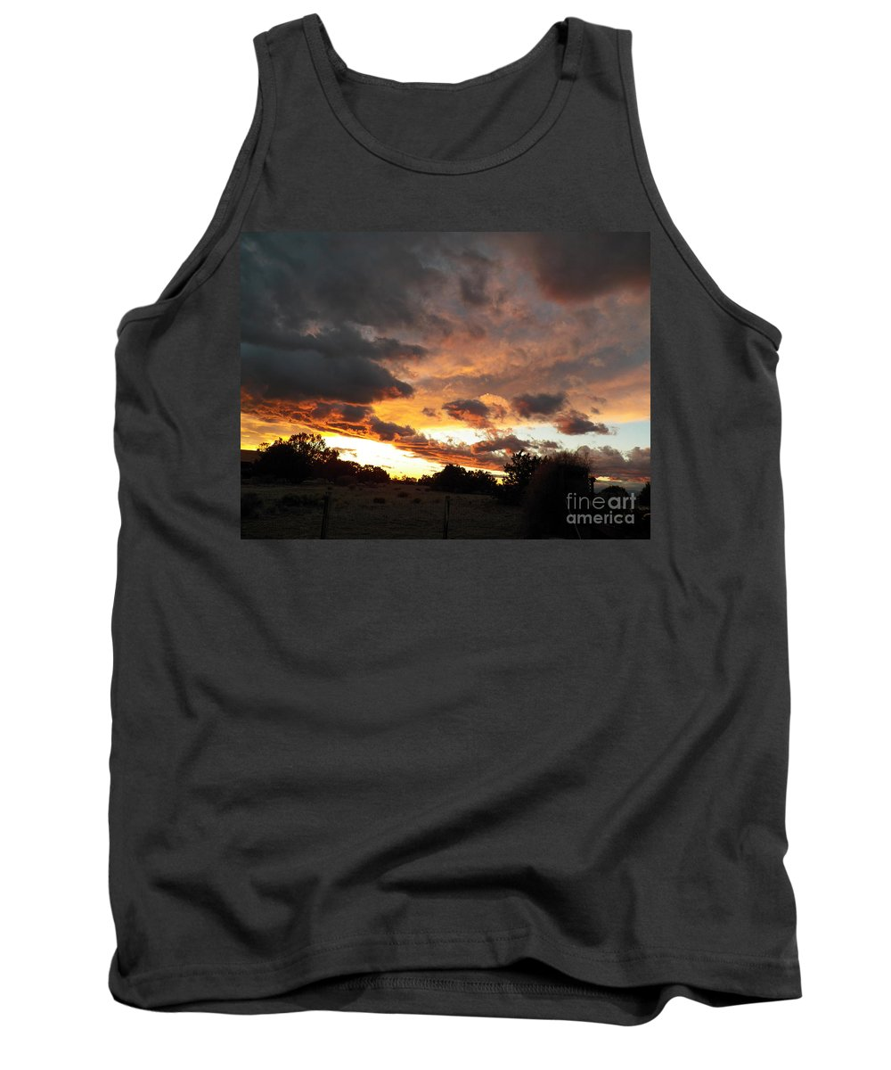 Sky Tank Top featuring the photograph Heaven Reaching Down by Brian Commerford