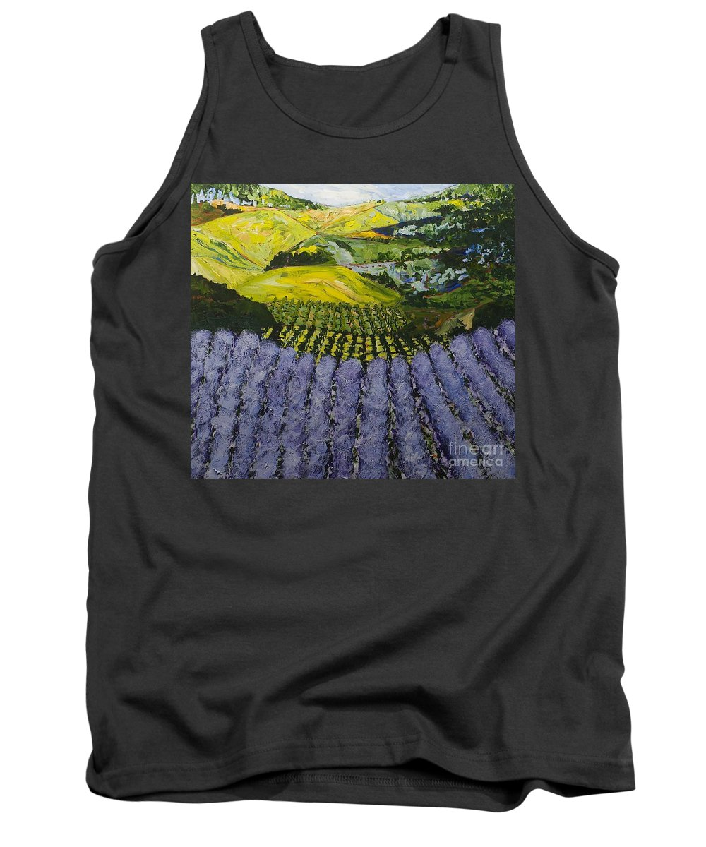 Landscape Tank Top featuring the painting Heavenly Valley by Allan P Friedlander