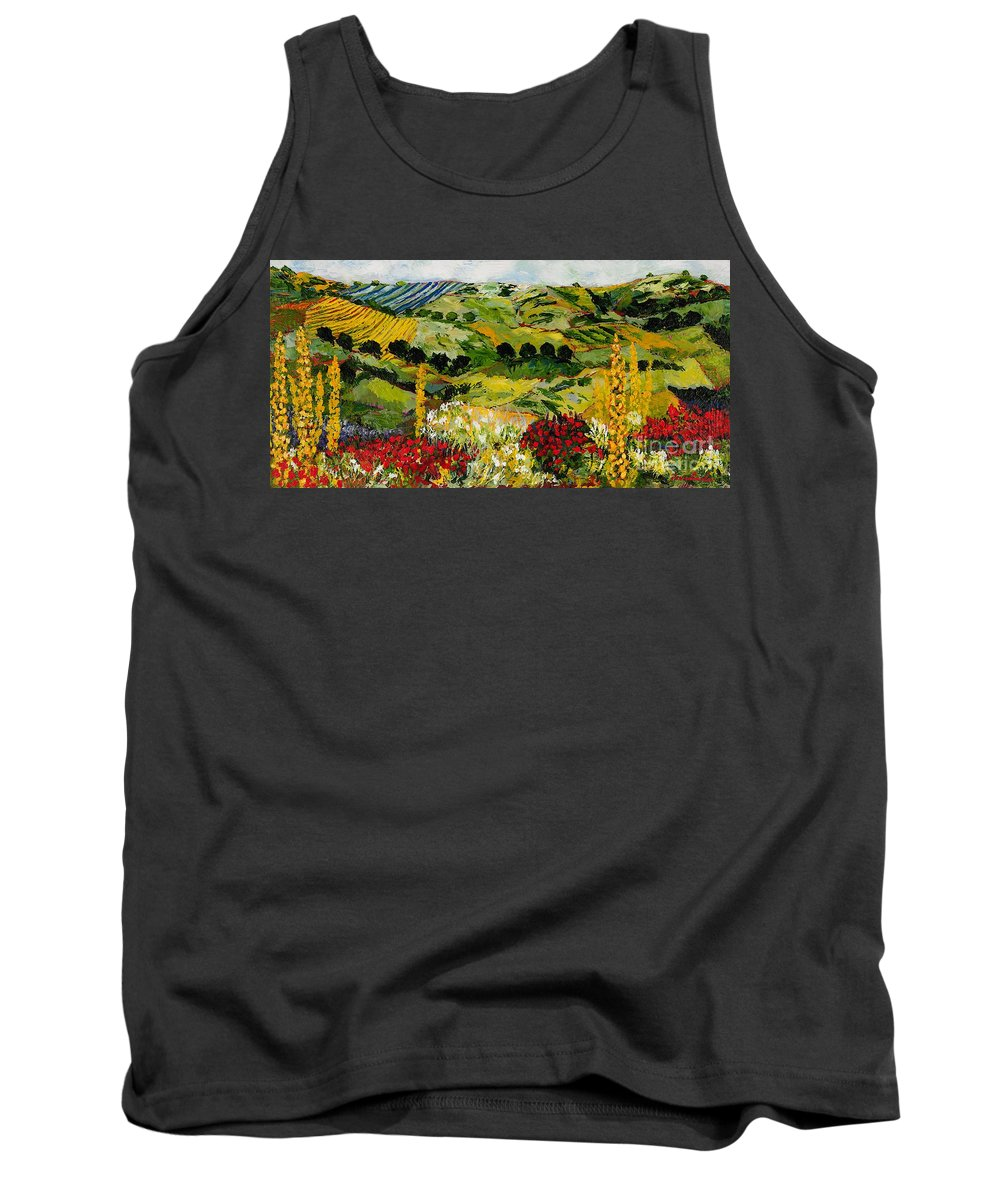 Landscape Tank Top featuring the painting Heavenly View by Allan P Friedlander