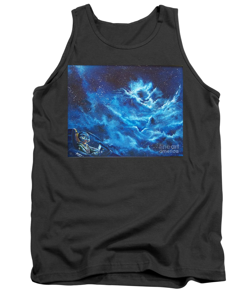Astro Tank Top featuring the painting Heavens Gate by Murphy Elliott