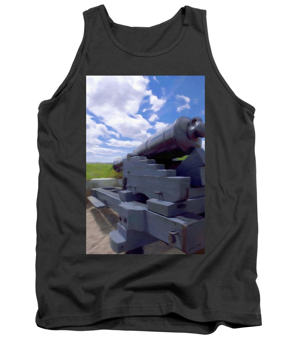 Canadian Tank Top featuring the painting Heavy Artillery by Jeffrey Kolker