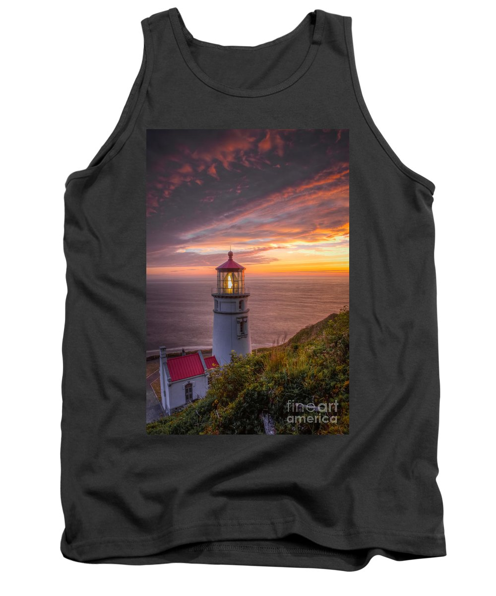 Oregon Coast Tank Top featuring the photograph Heceta Head Lighthouse by Matt Hoffmann