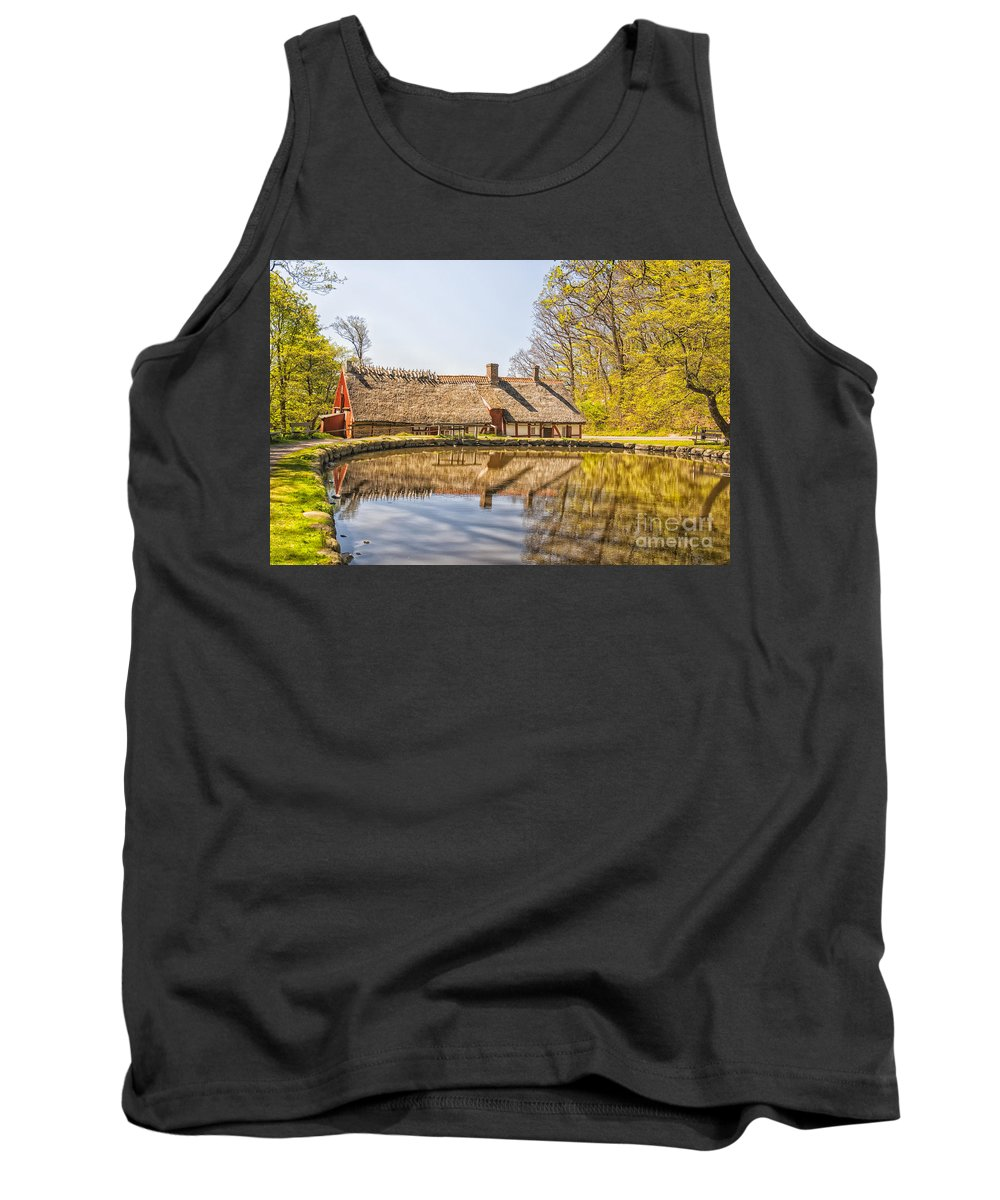 Lake Tank Top featuring the photograph Helsingborg Cottage Millhouse by Antony McAulay