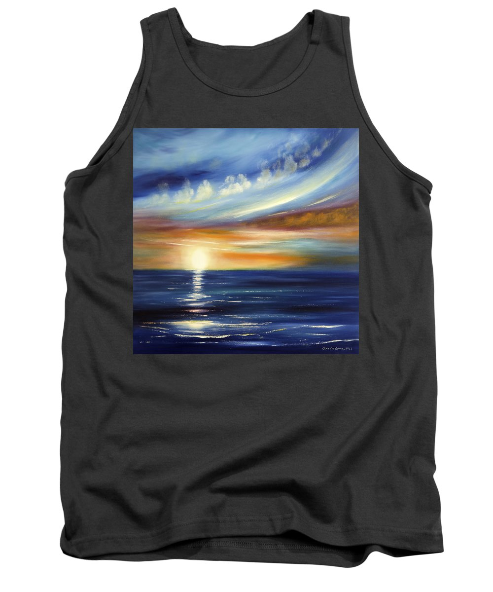 Sunset Tank Top featuring the painting Here It Goes 2 by Gina De Gorna