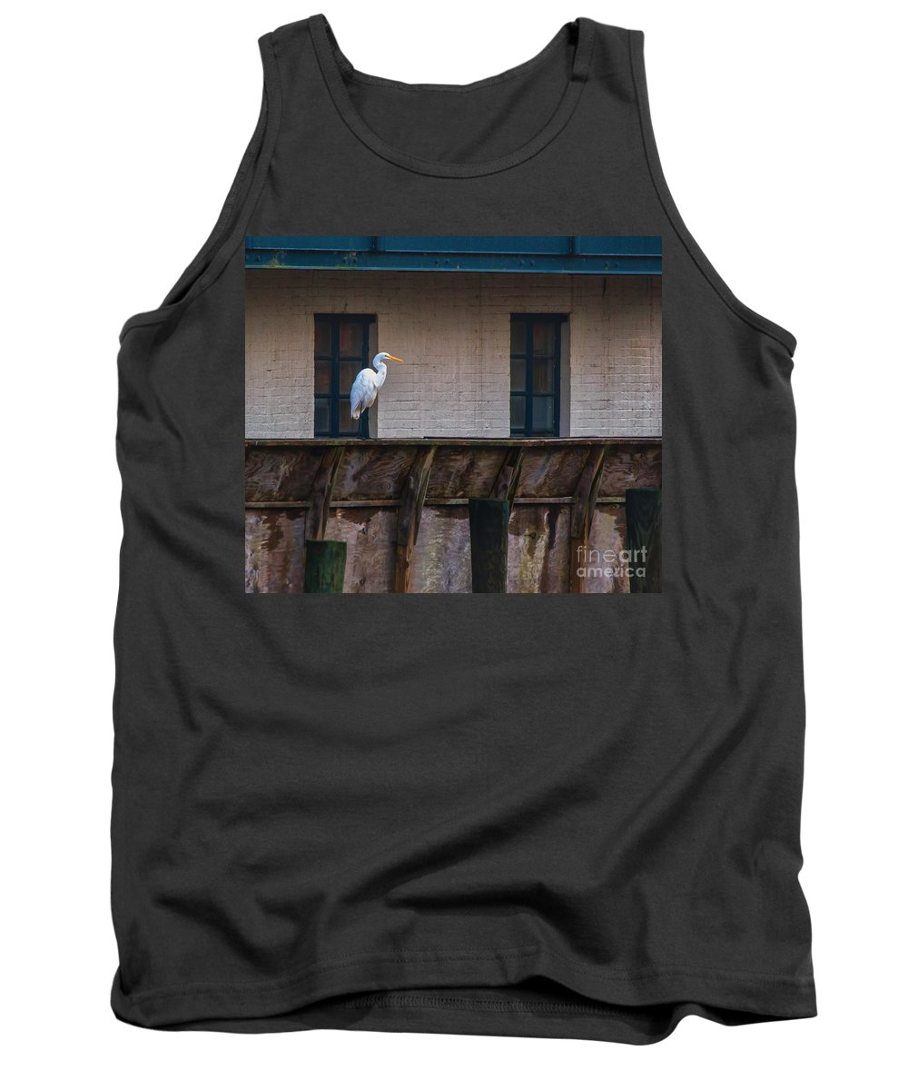 Heron Tank Top featuring the photograph Heron In The Window by Scott Hervieux