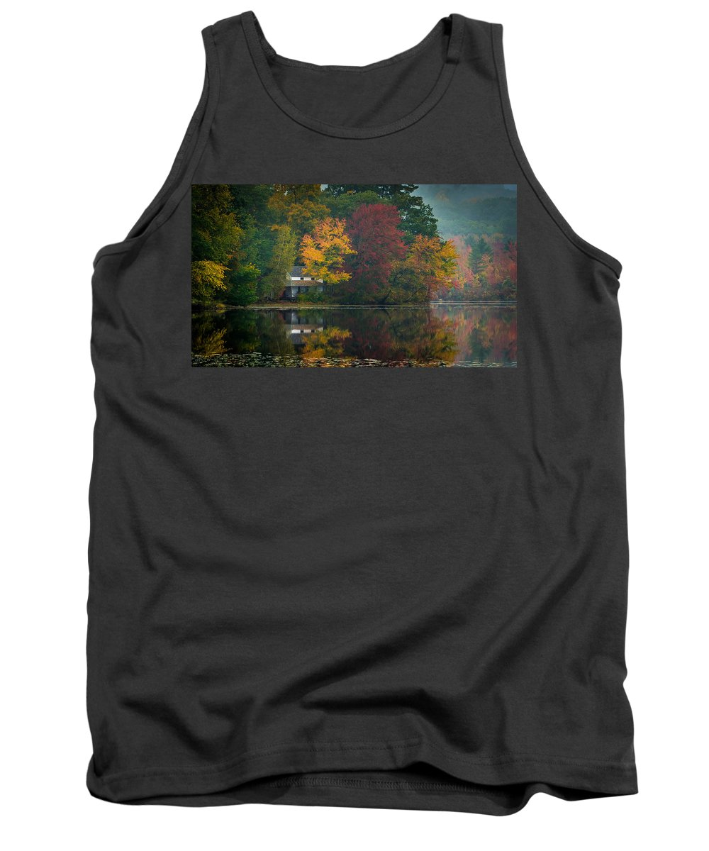 Fall Tank Top featuring the photograph Hidden House by David Downs