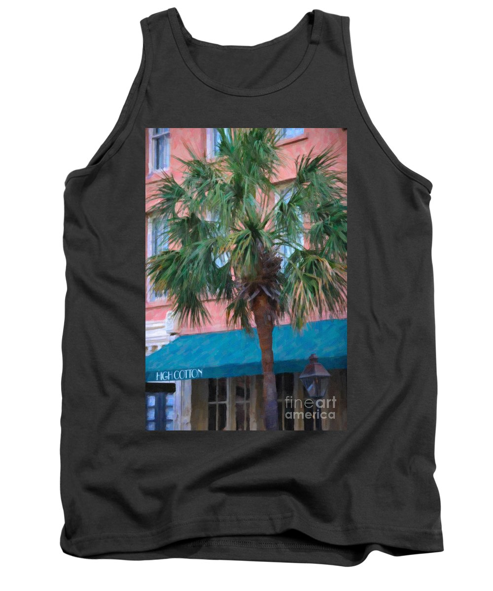 High Cotton Tank Top featuring the digital art High Cotton by Dale Powell