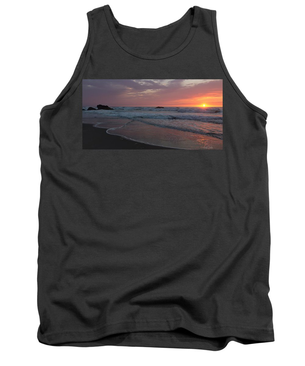 Pink Tank Top featuring the photograph High Tide by Heidi Smith