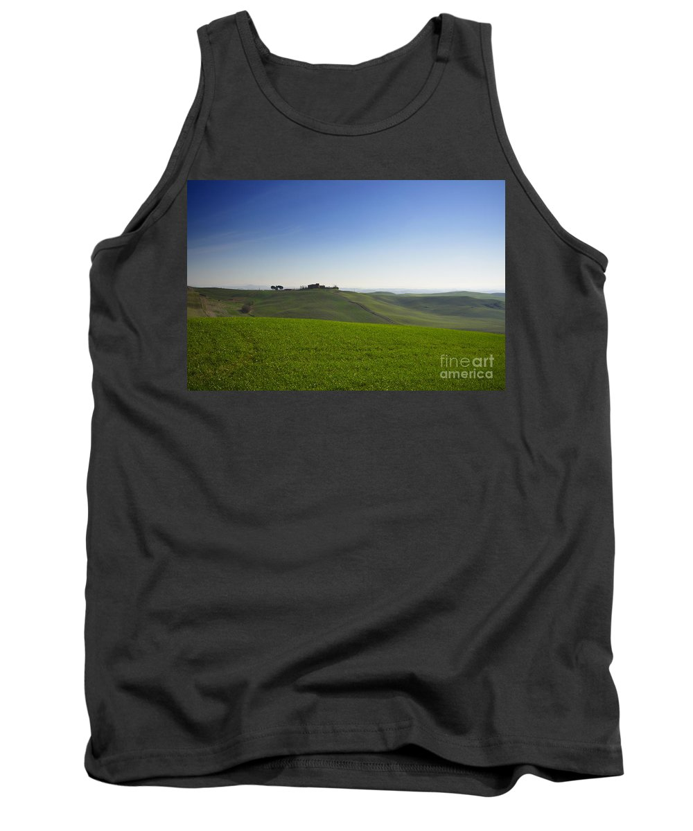 Hill Tank Top featuring the photograph Hills On The Field by Mats Silvan