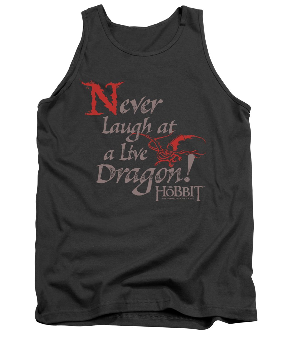 The Hobbit Tank Top featuring the digital art Hobbit - Never Laugh by Brand A