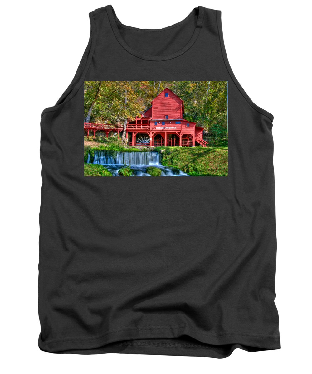 Grist Mill Tank Top featuring the photograph Hodgson Mill by Steve Stuller