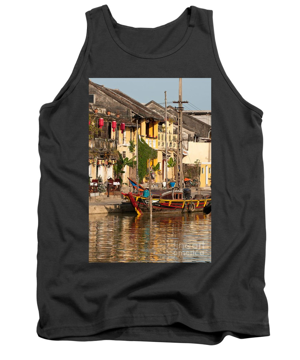 Vietnam Tank Top featuring the photograph Hoi An Fishing Boat 02 by Rick Piper Photography