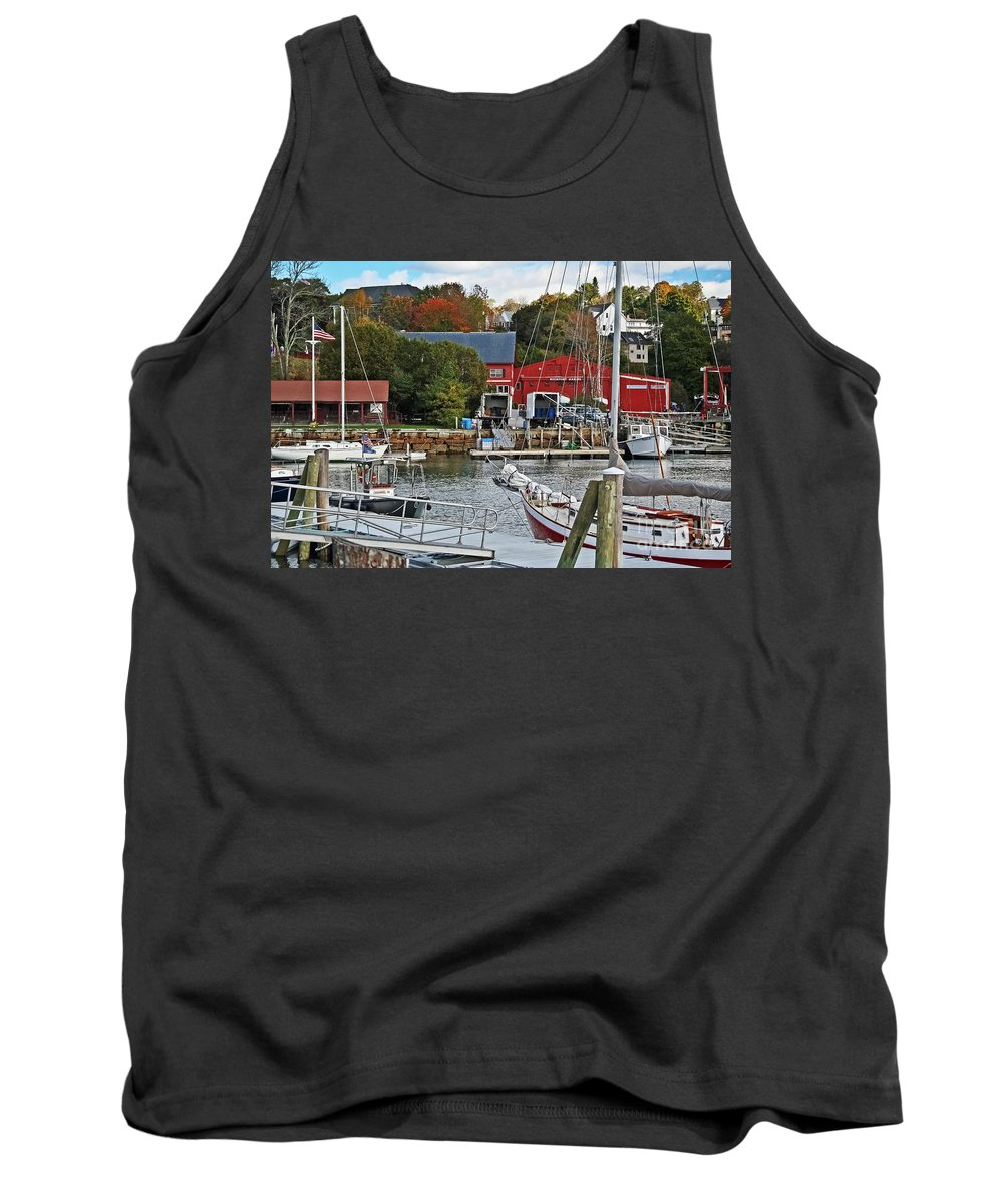 Travel Tank Top featuring the photograph Holiday At Rockport by Elvis Vaughn