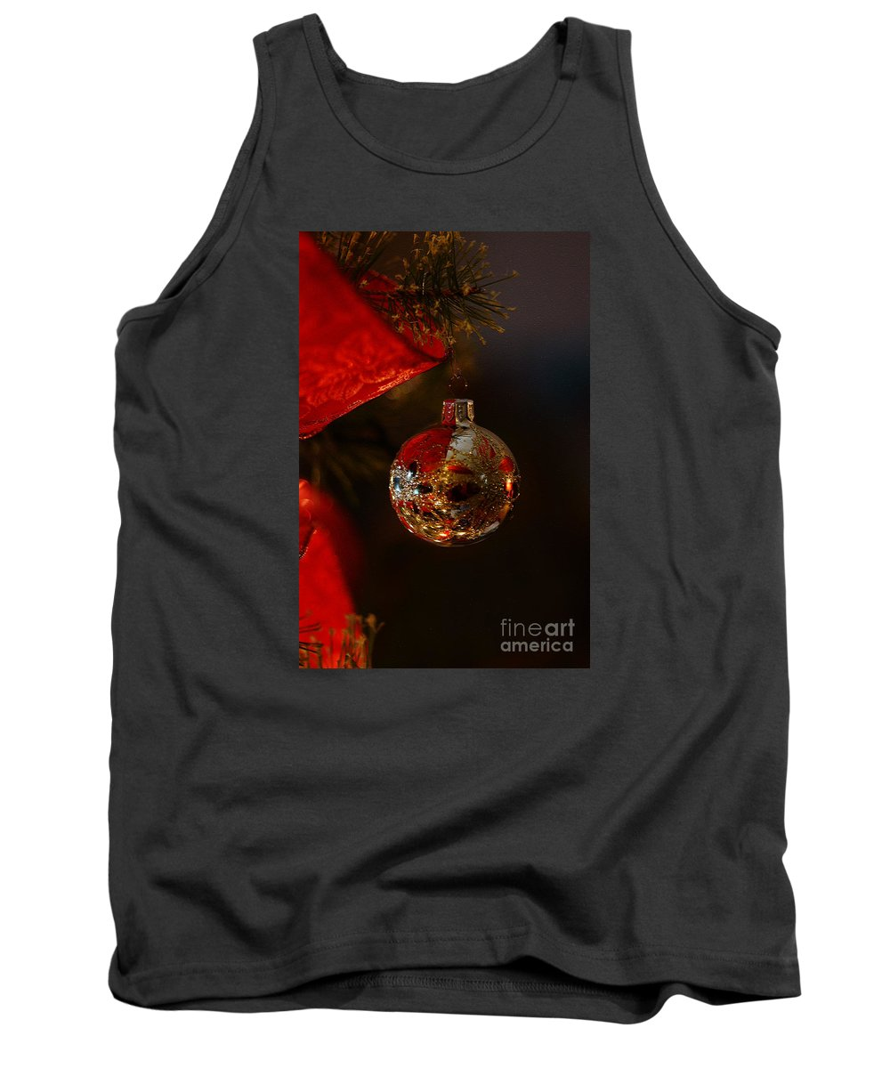 Christmas Tank Top featuring the photograph Holiday Season by Linda Shafer
