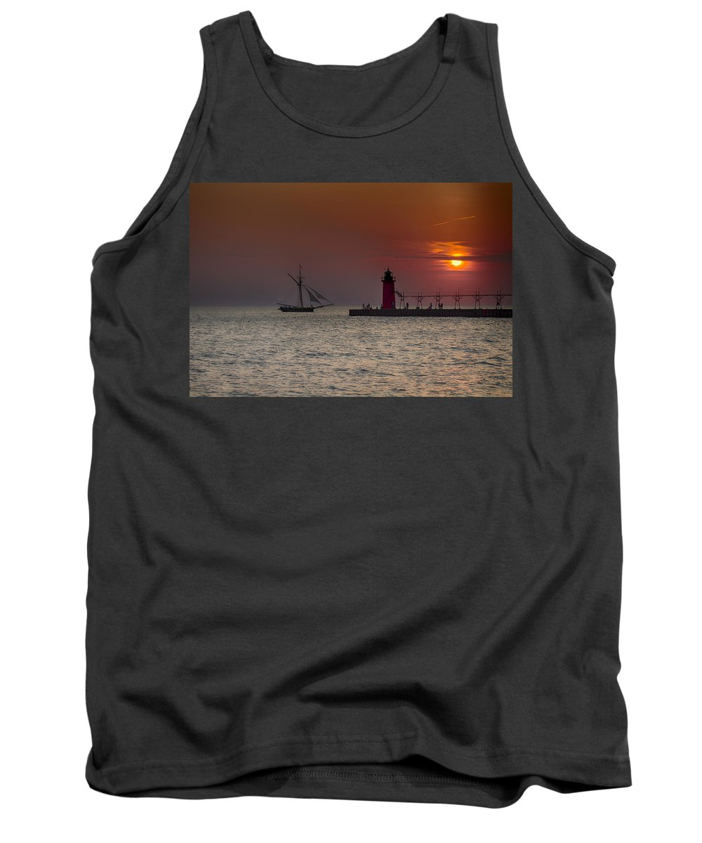 South Haven Tank Top featuring the photograph Home Bound by Jack R Perry