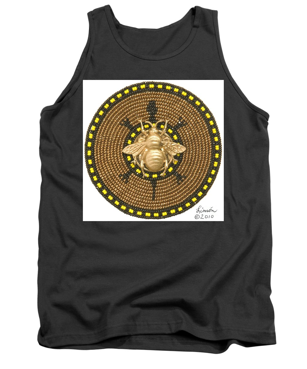 Turtle Tank Top featuring the mixed media Honey Bee Turtle by Douglas K Limon