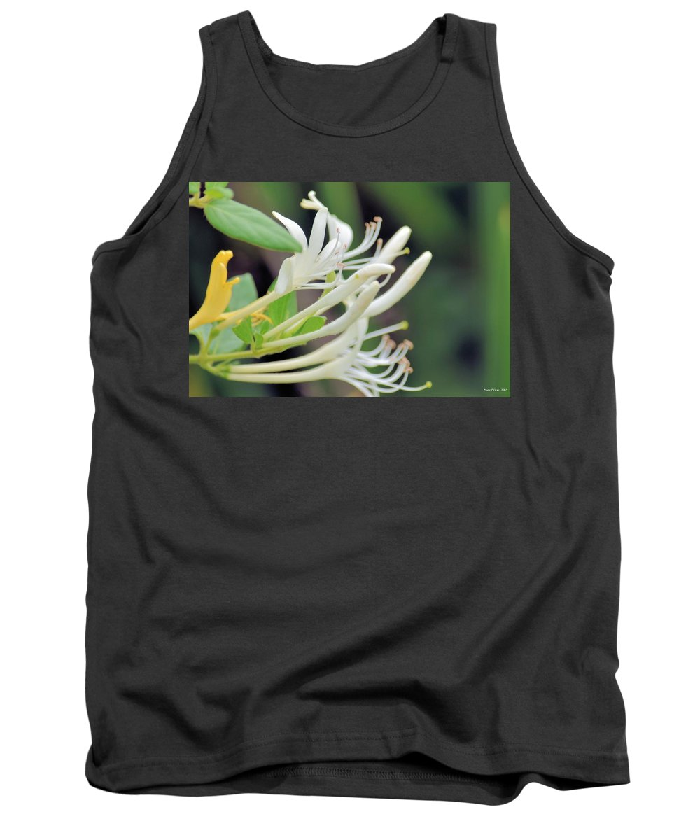 Honeysuckle Fingers Tank Top featuring the photograph Honeysuckle Fingers by Maria Urso