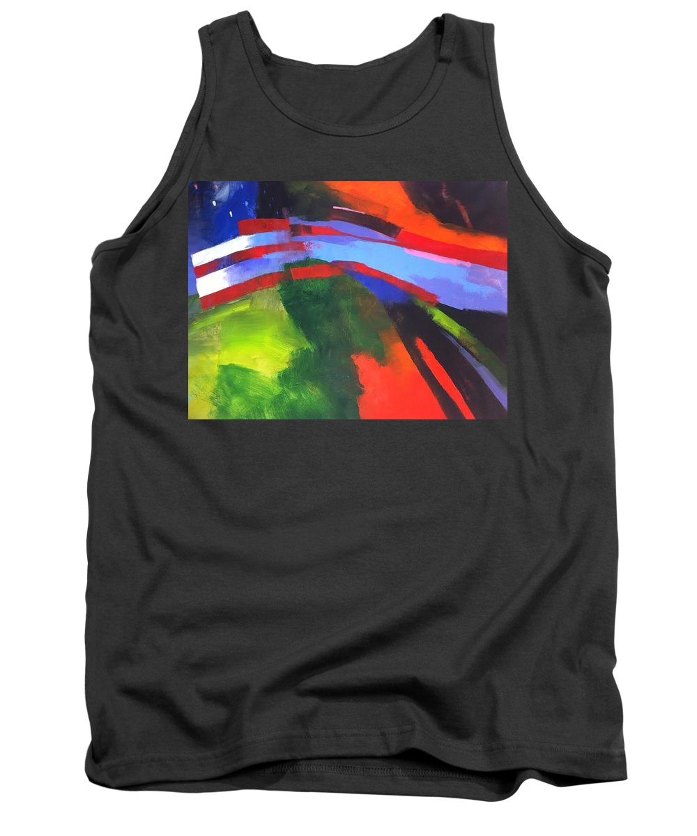 American Flag Tank Top featuring the painting Honor by Stan Fellows
