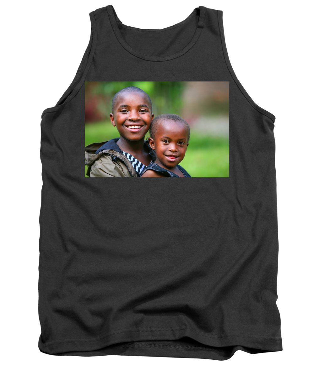 Africa Tank Top featuring the photograph Hope For The Future by Bruce J Robinson