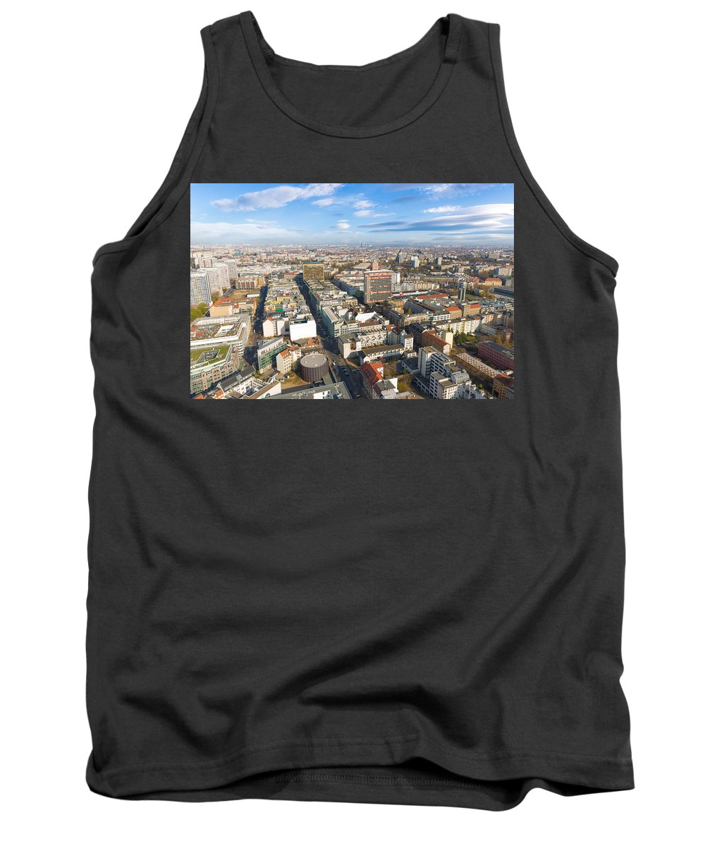 Apartments Tank Top featuring the photograph Horizontal Aerial View Of Berlin by Semmick Photo
