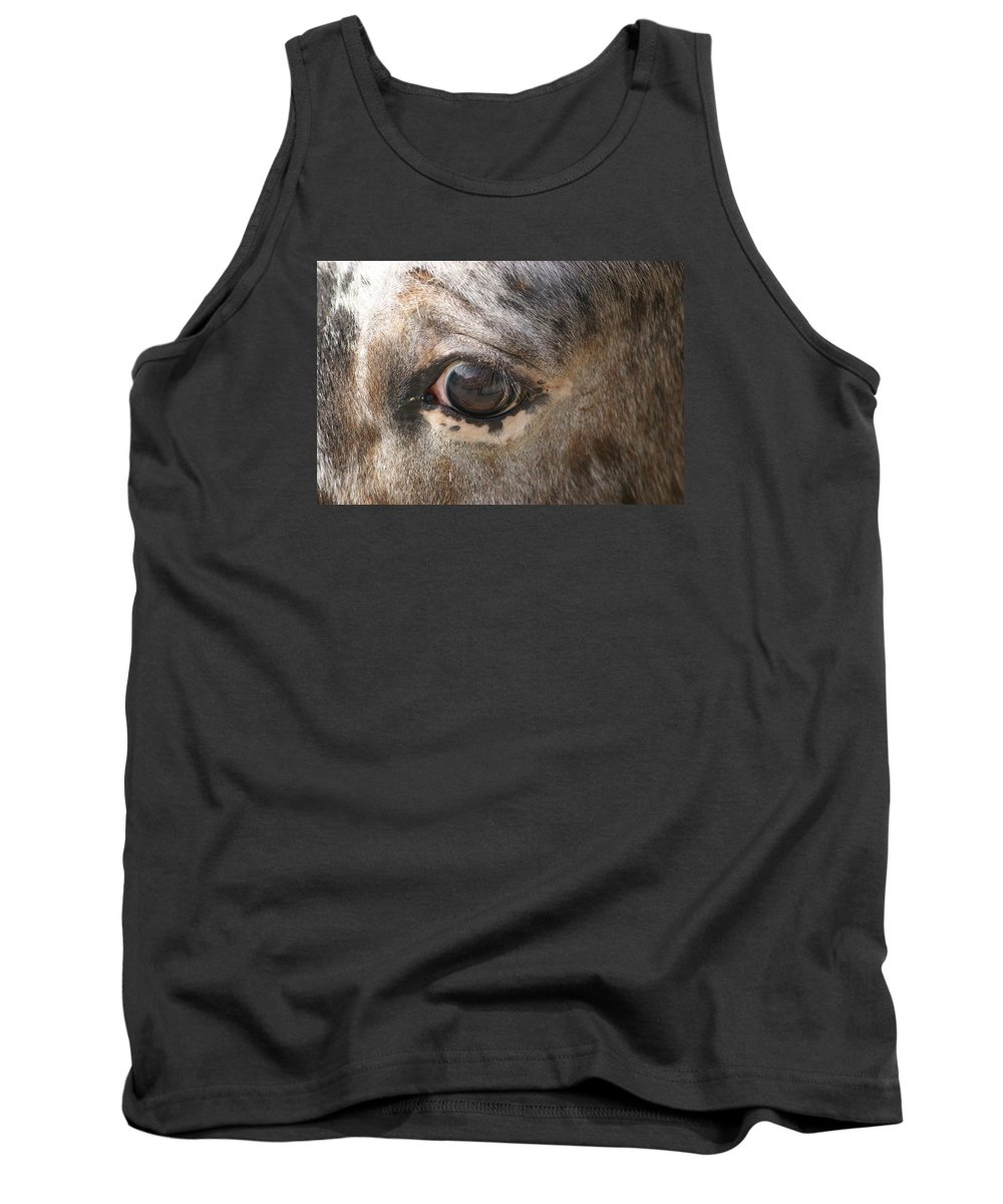 Horse Tank Top featuring the photograph Horse Close Up by FL collection