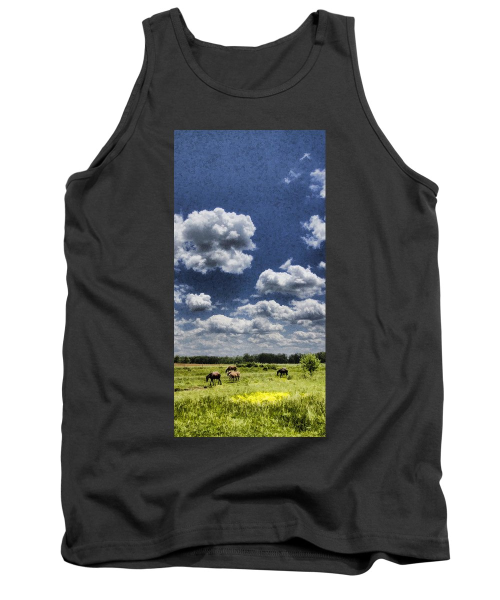 Horses Tank Top featuring the photograph Horse Delight by Kathy Clark