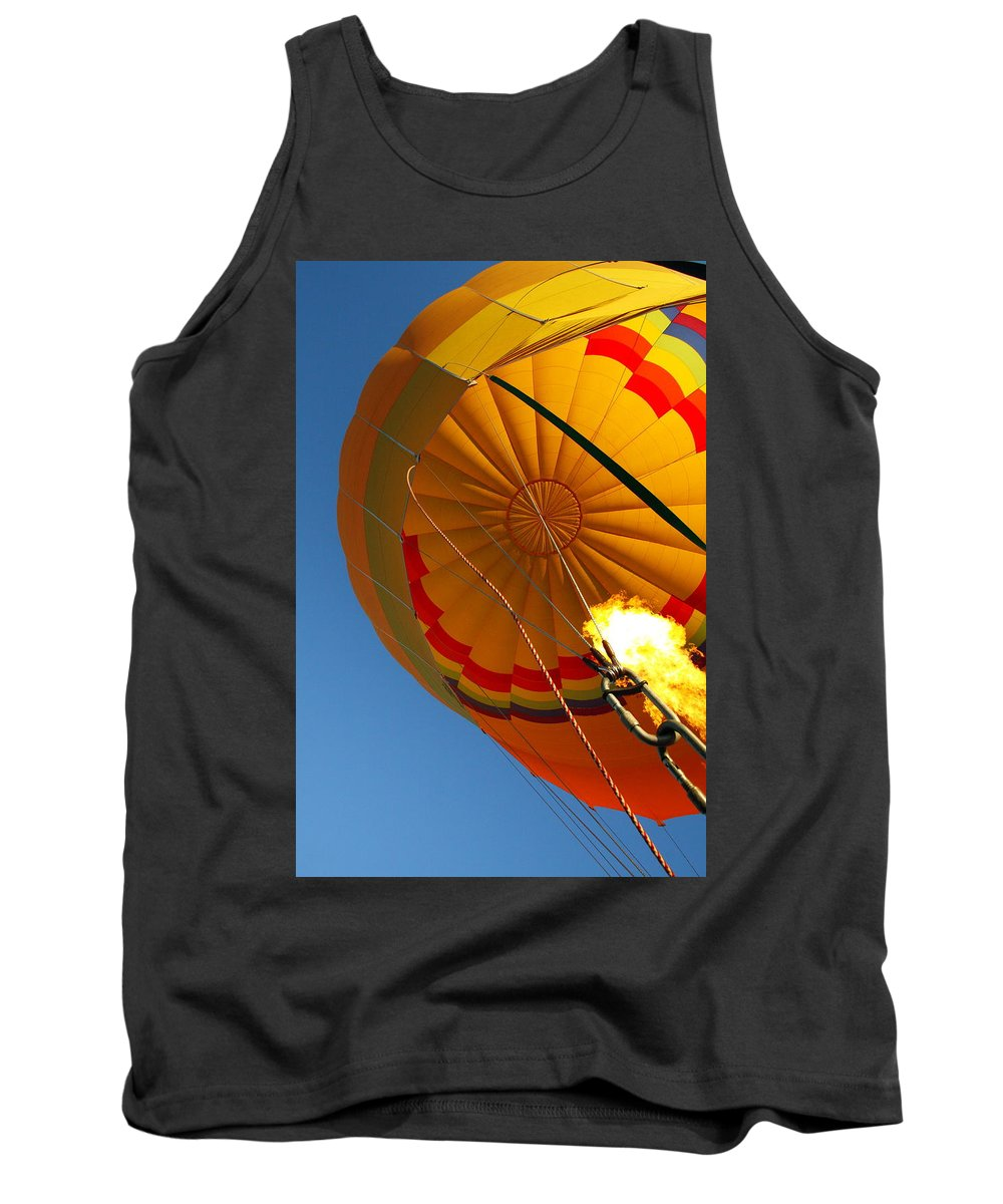 Hot-air Balloon Tank Top featuring the photograph Hot Air Ballooning 2am-29241 by Andrew McInnes