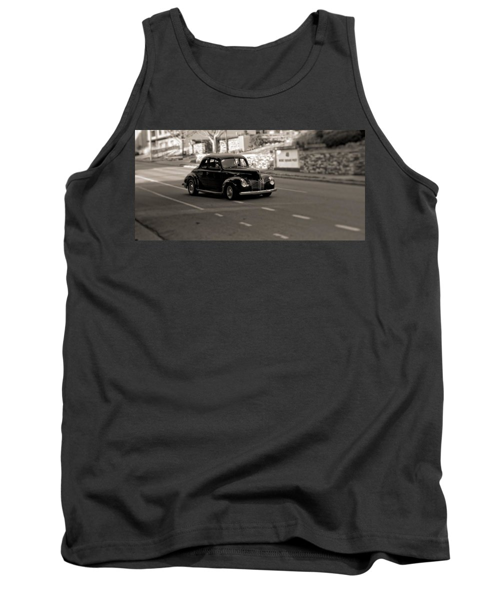 Hot Rod On The Street Tank Top featuring the photograph Hot Rod On The Street by Dan Sproul