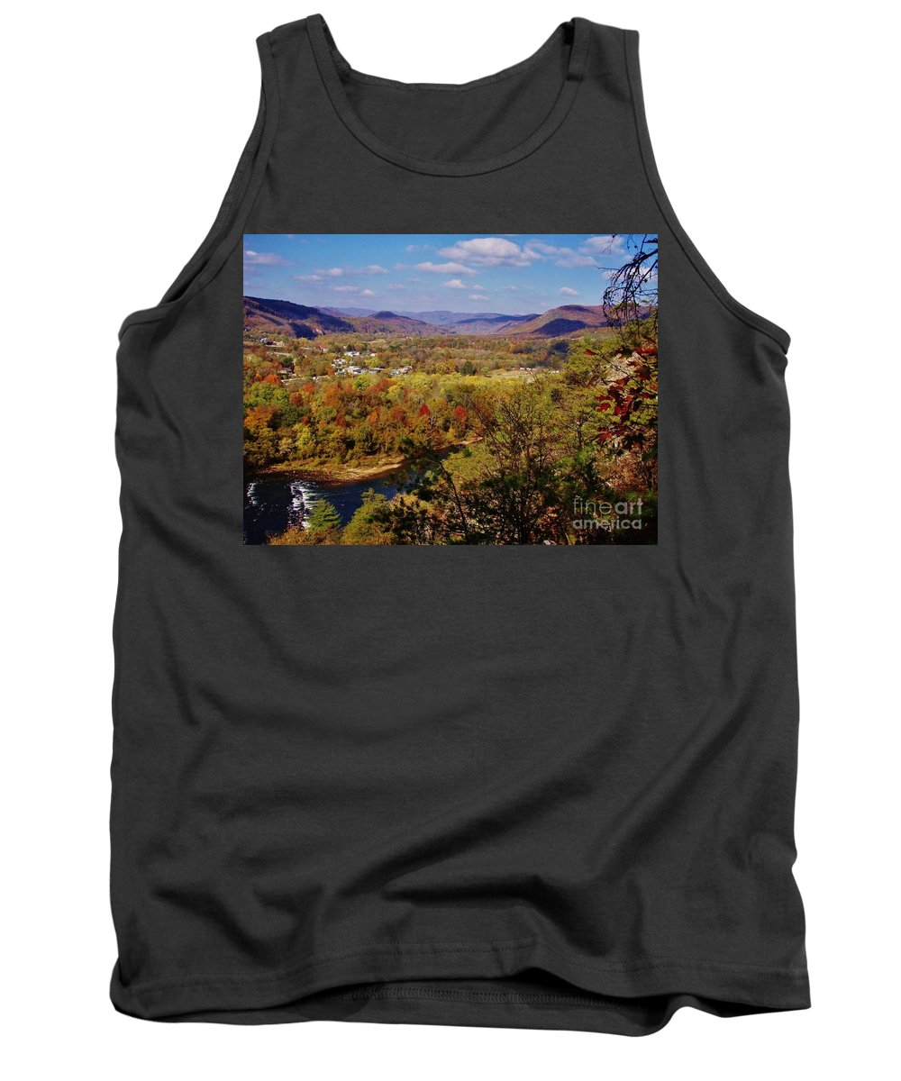 Hot Springs Tank Top featuring the photograph Hot Springs Overlook by Janice Spivey