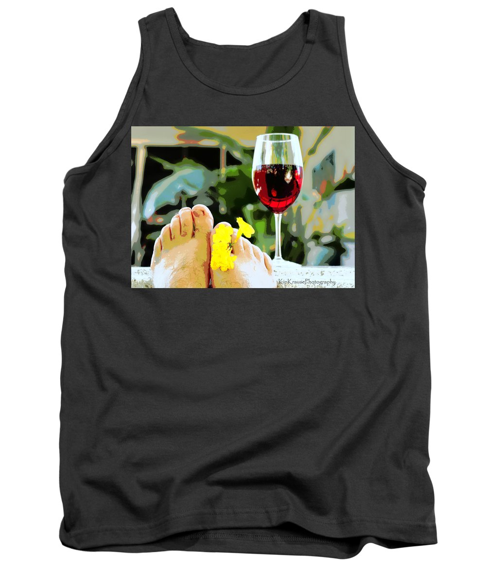 Flower Tank Top featuring the photograph Hot Tub Life by Kip Krause