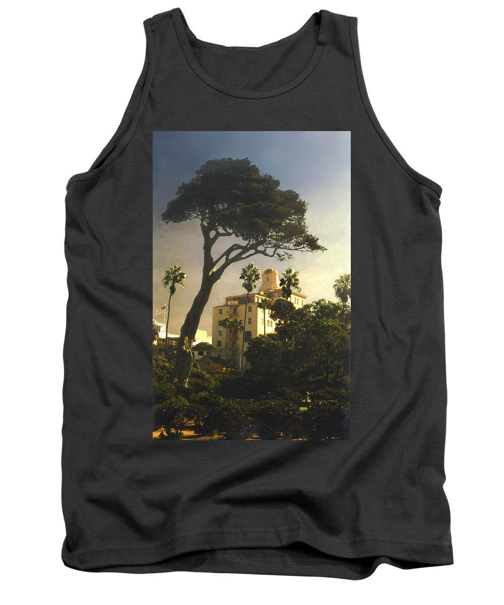 Landscape Tank Top featuring the photograph Hotel California- La Jolla by Steve Karol