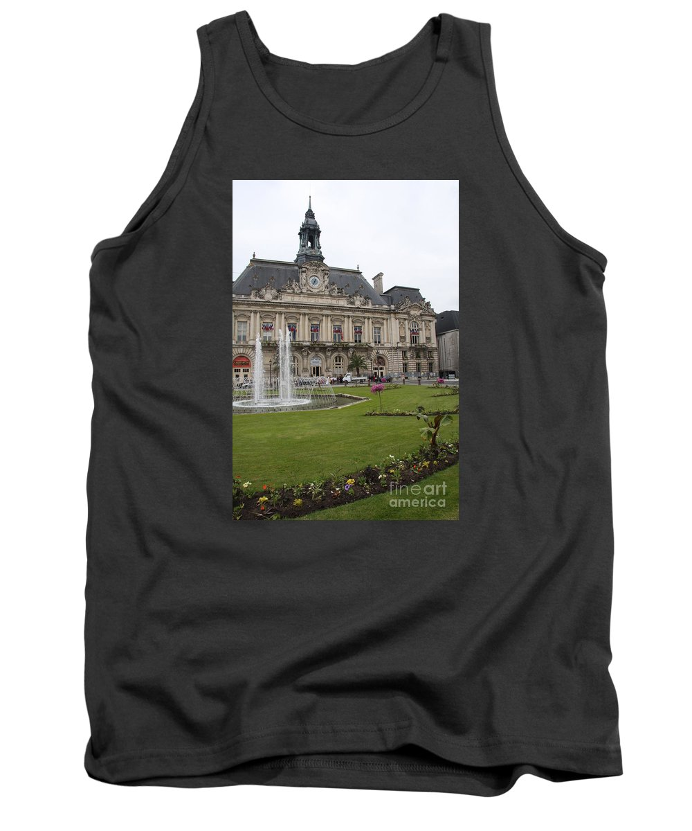 City Hall Tank Top featuring the photograph Hotel De Ville - Tours by Christiane Schulze Art And Photography