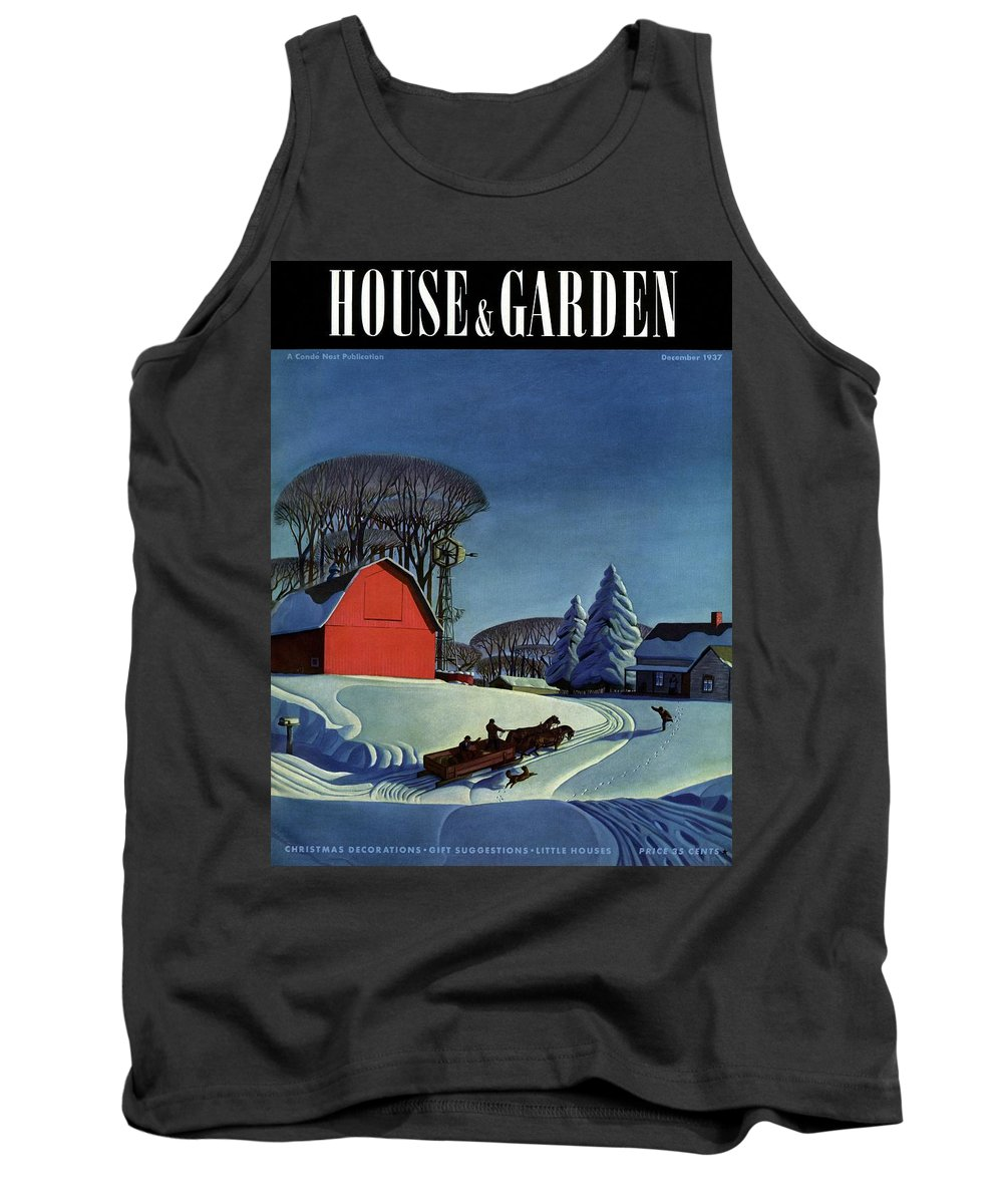 House And Garden Tank Top featuring the photograph House And Garden Christmas Decoration Cover by Dale Nichols
