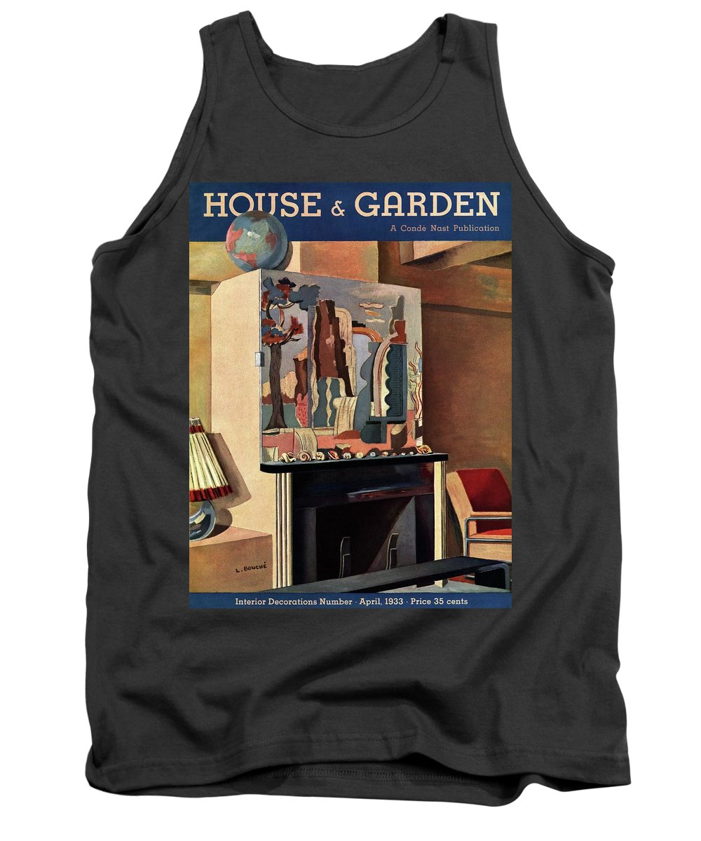 House And Garden Tank Top featuring the photograph House And Garden Interior Decoration Number Cover by Louis Bouche