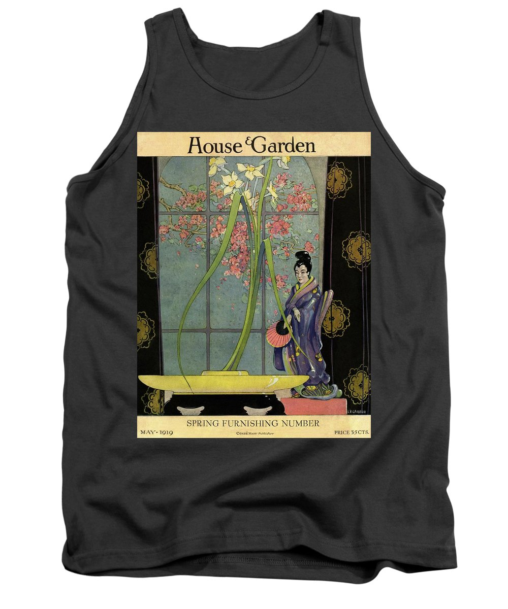 House And Garden Tank Top featuring the photograph House And Garden Spring Furnishing Number Cover by L. V. Carroll