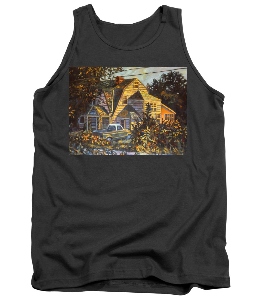 Kendall Kessler Tank Top featuring the painting House In Christiansburg by Kendall Kessler