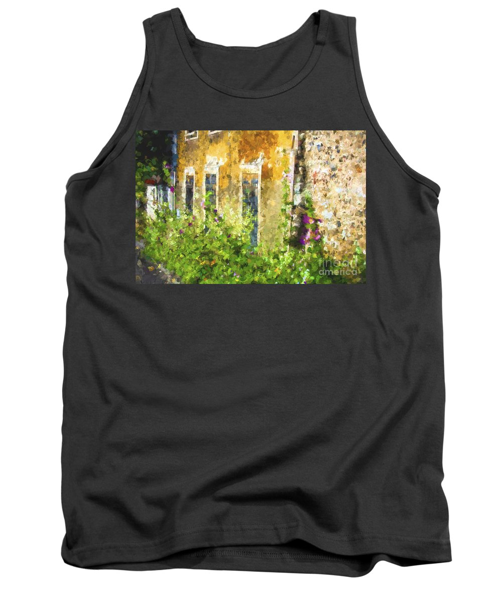 Giverny Tank Top featuring the digital art House in Giverny France by Sheila Smart Fine Art Photography