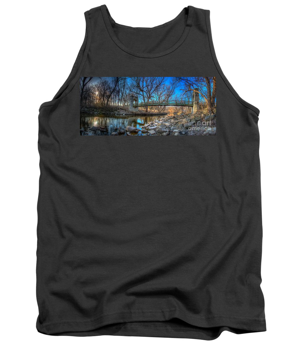Architecture Tank Top featuring the photograph Hoyt Bridge by Andrew Slater