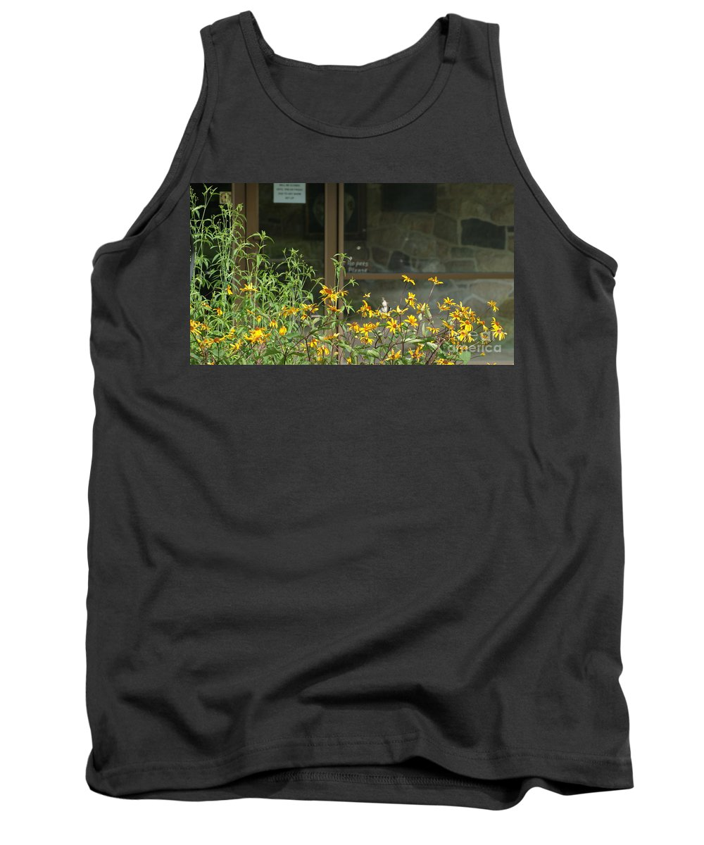Flower Tank Top featuring the photograph Humming Bird In Flight by Rob Luzier