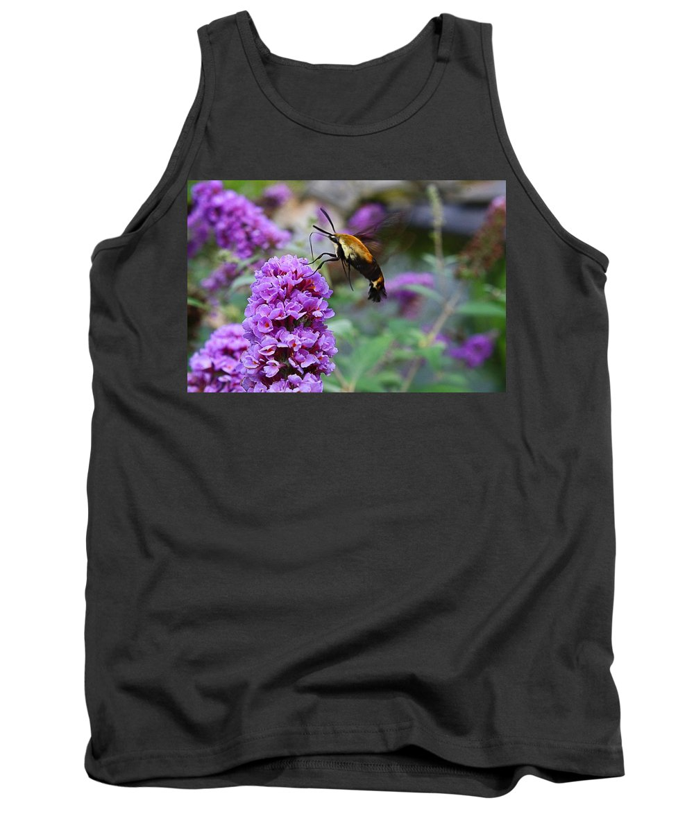 Hummingbird Tank Top featuring the photograph Hummingbird Moth by Kathryn Meyer