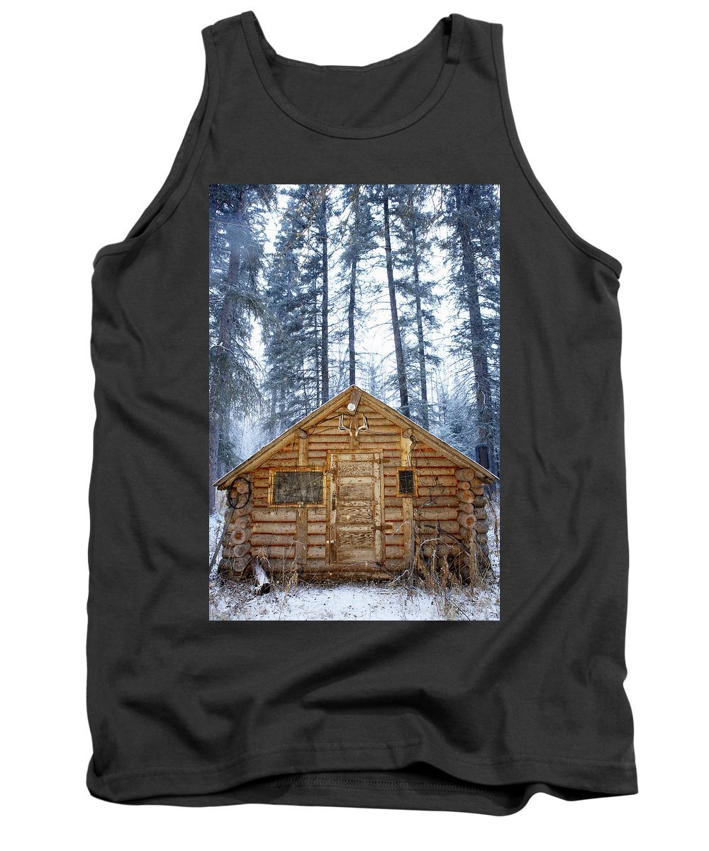 Alberta Tank Top featuring the photograph Hunting Cabin In Alberta by Curtis Trent