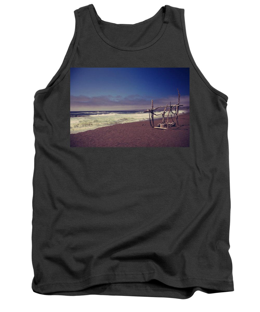 Manchester Beach Tank Top featuring the photograph I Feel You Slipping Away by Laurie Search