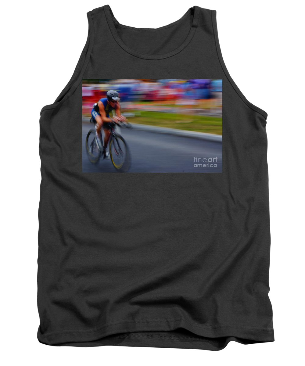 Sports Tank Top featuring the photograph I Will Finish by Jeffery L Bowers